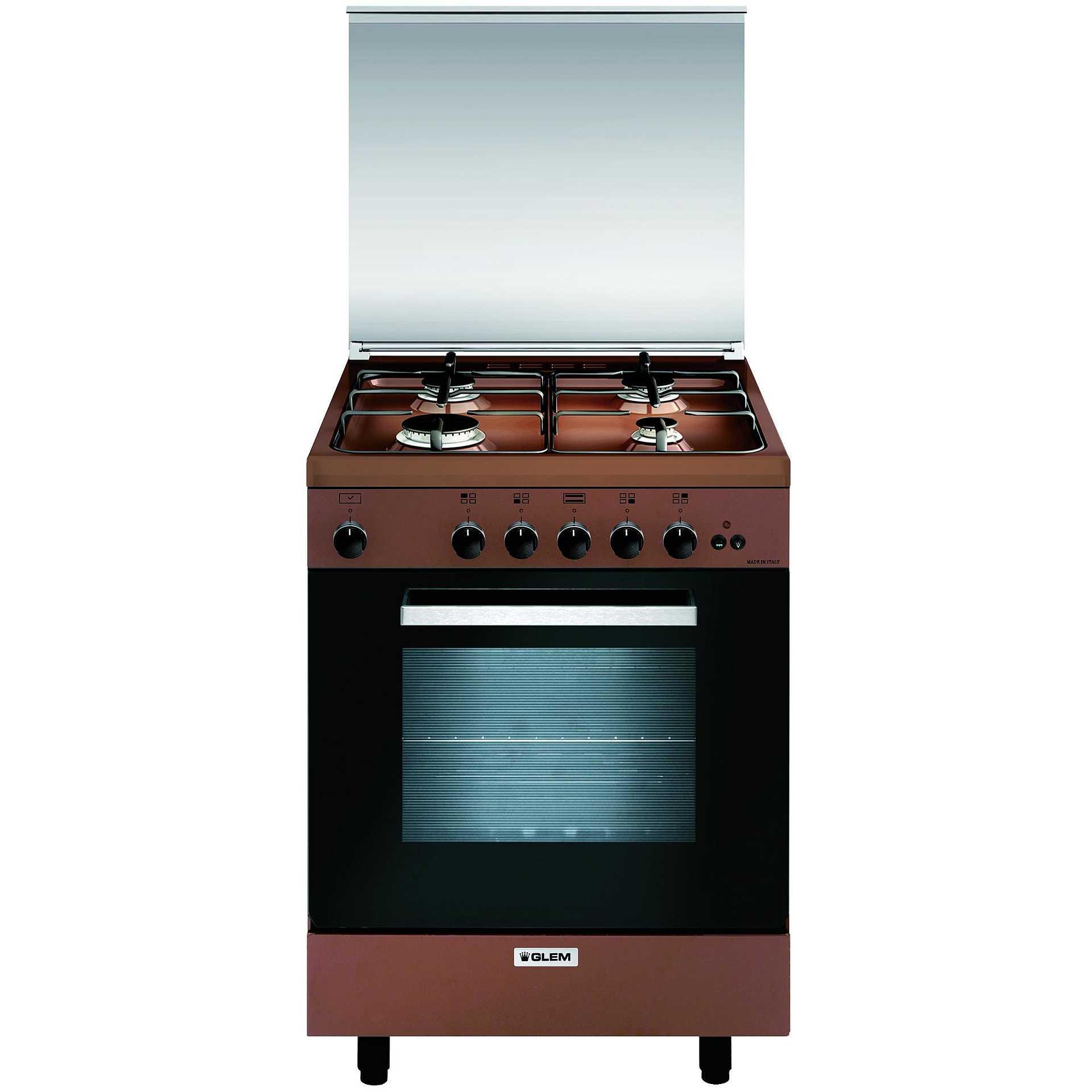 Glem Gas A664gc Cucina 60x60 4 Fuochi A Gas Forno A Gas Con Grill Elettrico 70 Litri Classe A Colore Marrone Cucine Cucina 4 Fuochi Clickforshop