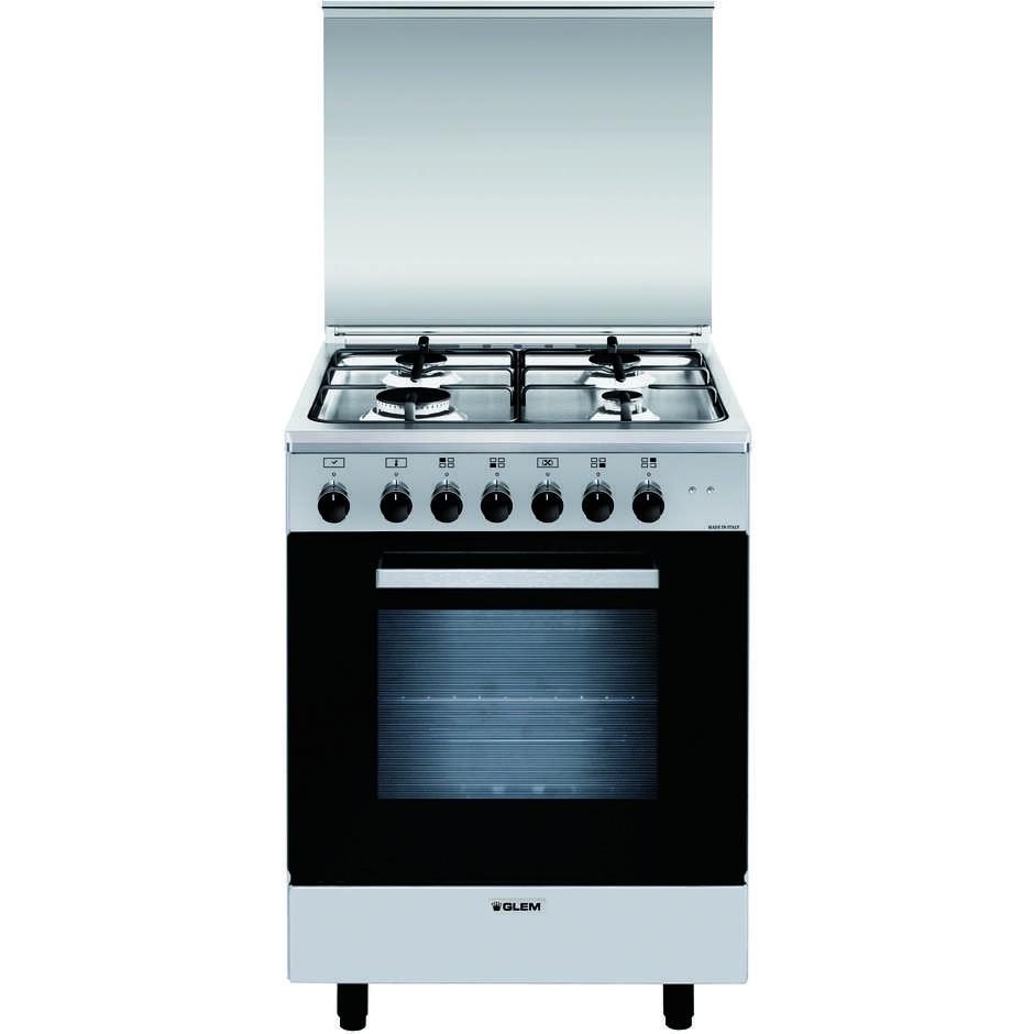 Glem gas a664mi6 cucina 60x60 4 fuochi a gas forno - Eprice cucine a gas ...