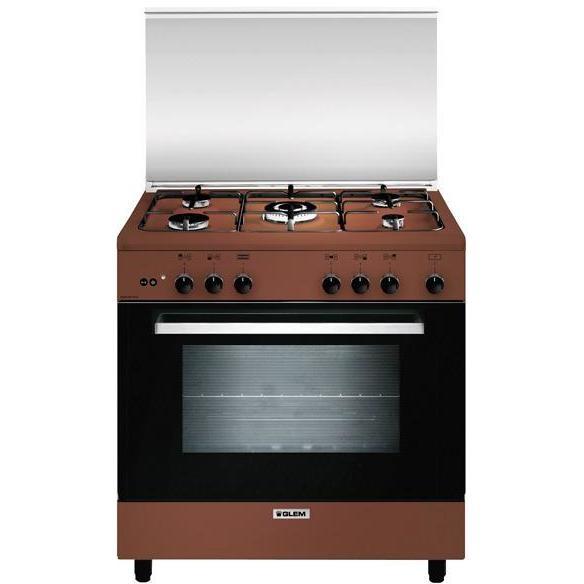 Glem Gas A855gc Cucina 80x50 5 Fuochi A Gas Forno A Gas Con Grill Elettrico 95 Litri Classe A Colore Marrone Cucine Cucina 5 Fuochi Clickforshop