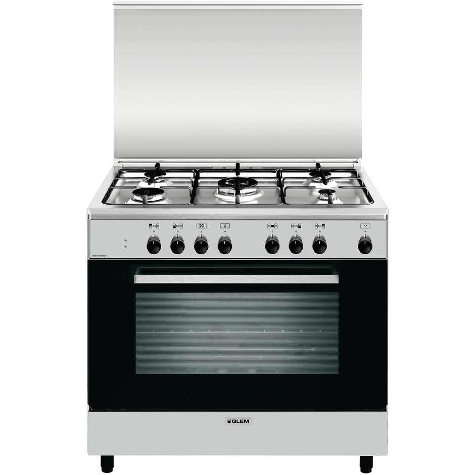 Glem gas a965mi6 cucina 90x60 5 fuochi a gas forno - Eprice cucine a gas ...