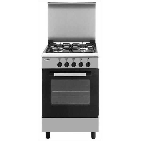 Glem gas ae55mi3 cucina 53x50 4 fuochi a gas forno elettrico classe a colore inox cucine - Ariston cucine a gas ...