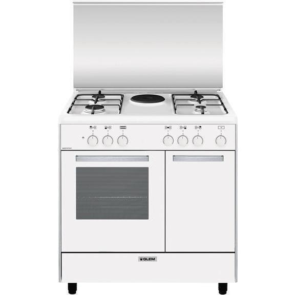 Glem Gas AR856EX cucina 80x50 4 fuochi a gas + 1 piastra ...
