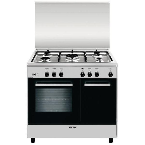 Glem gas ar965gi cucina 90x60 5 fuochi a gas forno a gas con grill elettrico 70 litri classe a - Cucina a gas 5 fuochi ...