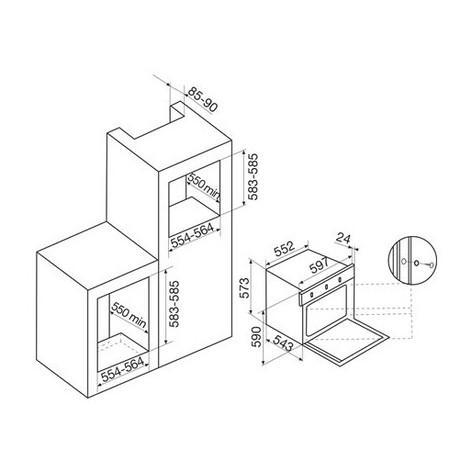 Glem gas gfm52bkn forno elettrico multifunzione ventilato da incasso 60 litri classe a colore - Forno a gas ventilato da incasso ...