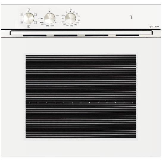 Glem gas gfm52whn forno elettrico multifunzione ventilato da incasso 60 litri classe a colore - Forno a gas ventilato da incasso ...