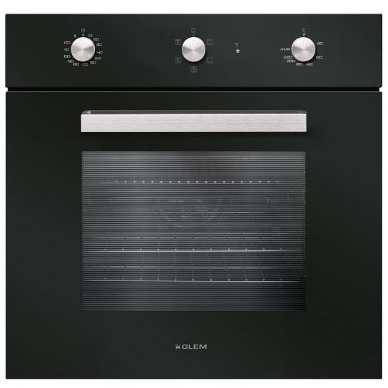 Glem gas gfs52bk forno elettrico multifunzione ventilato da incasso 64 litri classe a colore - Forno incasso a gas ventilato ...