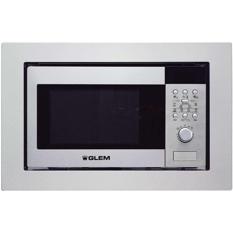 Glem gas gmi203ix forno a microonde da incasso con grill 20 litri 900 watt colore inox forni - Forno a incasso a gas ...