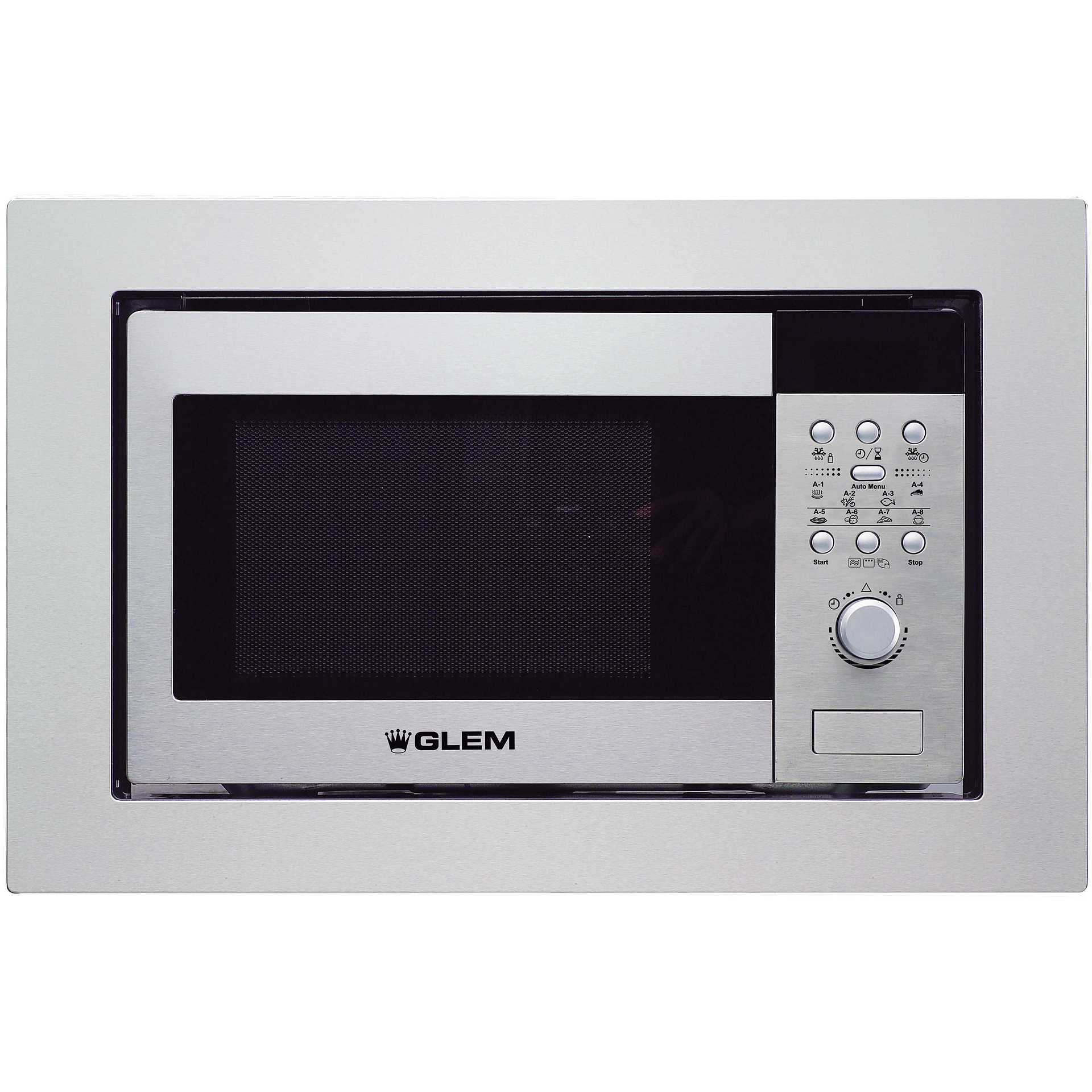 Glem gas gmi203ix forno a microonde da incasso con grill 20 litri 900 watt colore inox forni - Forno e microonde insieme ...