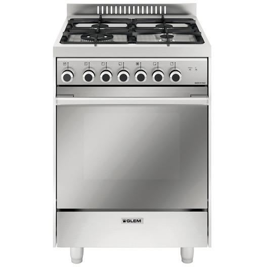 Glem gas m664mi cucina 60x60 4 fuochi a gas forno multifunzione elettrico ventilato 64 litri - Cucine con forno elettrico ventilato ...