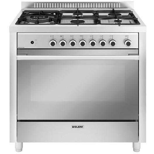 Glem gas m96tmi cucina a gas 90x60 5 fuochi forno - Cucina a gas glem ...