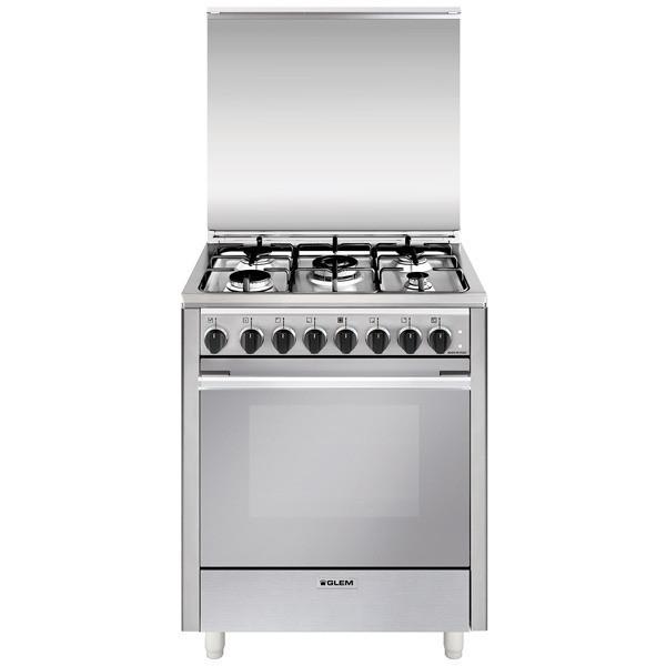 Glem gas u765mi6 cucina 70x60 5 fuochi a gas forno for Cucina 5 fuochi 70x60