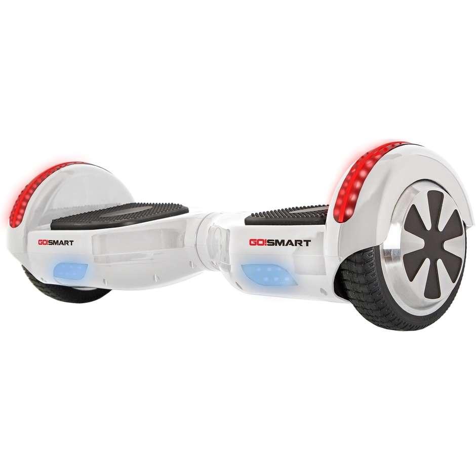 """Go!Smart GS-S65LED hoverboard 6,5"""" 10 Km/h + borsa colore bianco"""