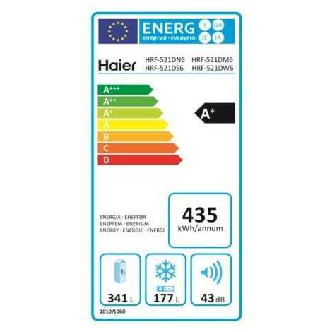 Haier HRF-521DS6 frigorifero side by side 518 litri classe A+ Total No Frost colore silver