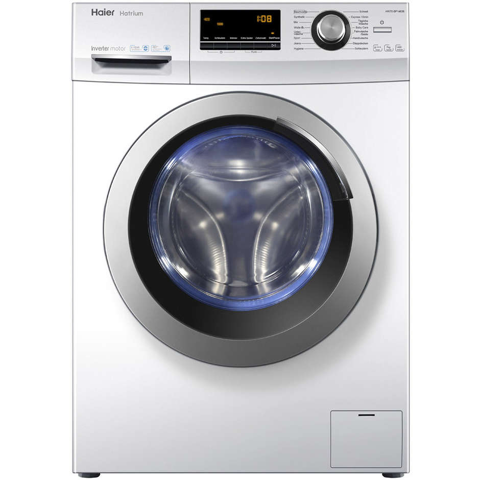Haier HW100-B14636 Lavatrice carica frontale 10 Kg 1400 giri/min Classe A+++-50% colore Bianco