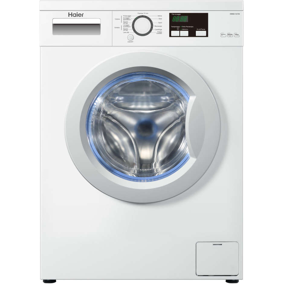 Haier HW60-1211N lavatrice 45 cm carica frontale 6 Kg 1200 giri classe A+++ colore bianco