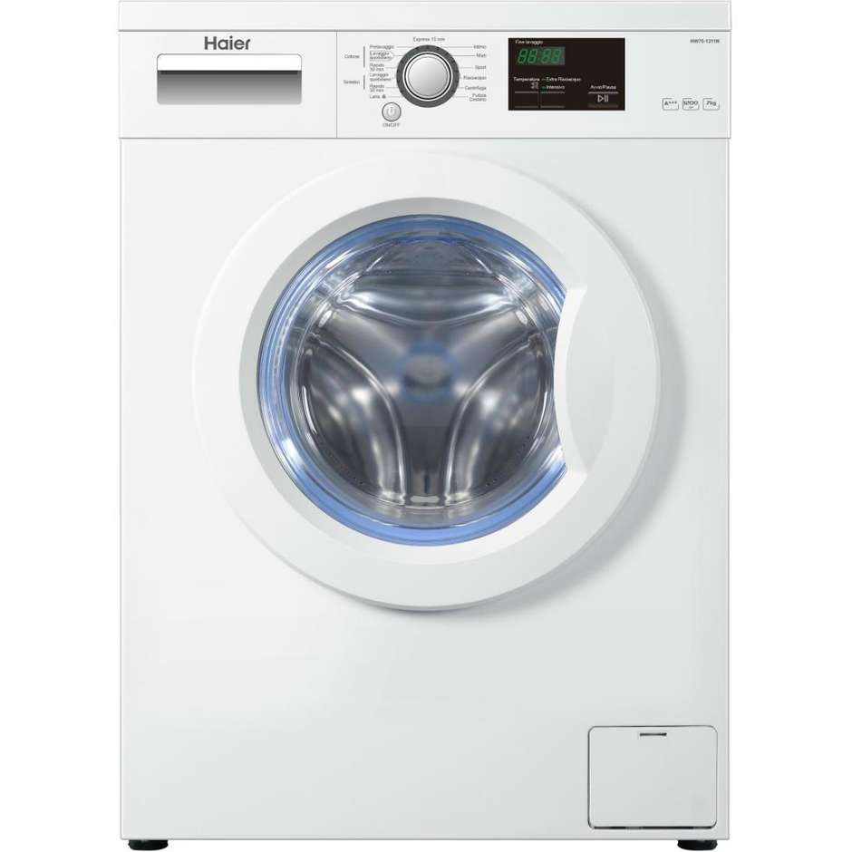 Haier HW70-1211N lavatrice carica frontale 7 Kg 1200 giri classe A+++ colore bianco