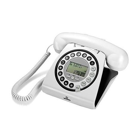 hallo bianco-nero telefono con filo