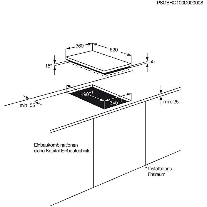 hc-452600eb aeg piano cottura 40 cm piastra ad induzione 2 zone ...