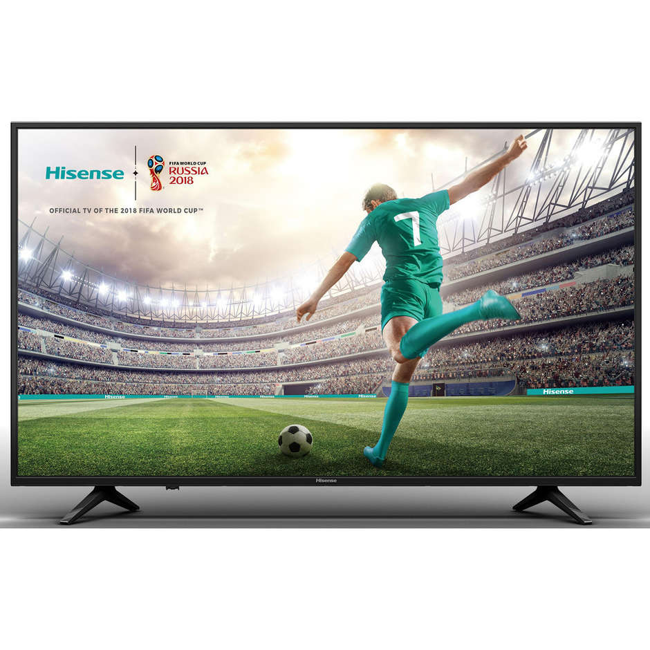 "Hisense H55A6120 Tv LED 55"" 4K Ultra HD Smart Tv Wifi classe A+ colore nero"