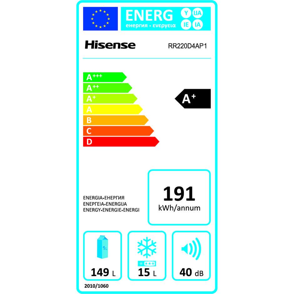 Hisense RR220D4AP1 Frigorifero monoporta 164 Litri Classe A+ No Frost colore Verde