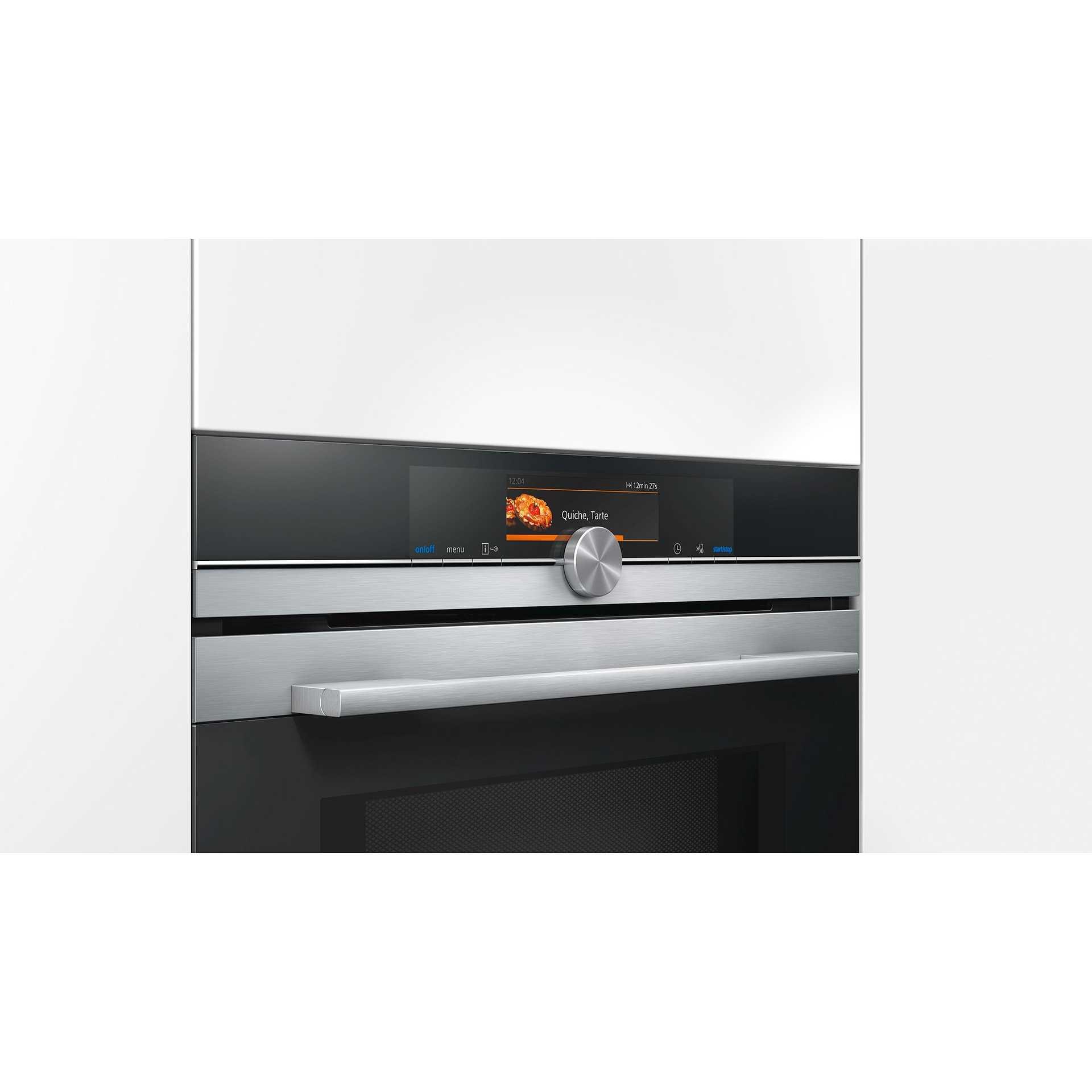 Hm678g4s1 siemens forno elettrico microonde da incasso con funzione vapore 67 l cl a pirolitico - Forno elettrico con microonde integrato ...