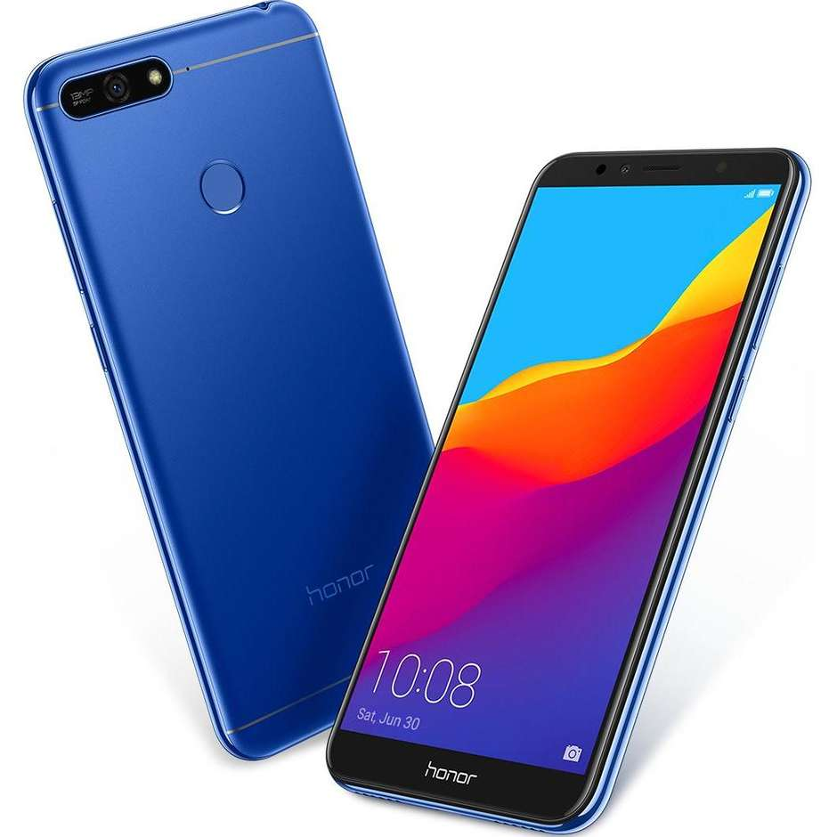 "Honor 7A TIM Smartphone 5,7"" HD Dual Sim memoria 16 GB Fotocamera 13 MP Android 8.0 colore Blu"