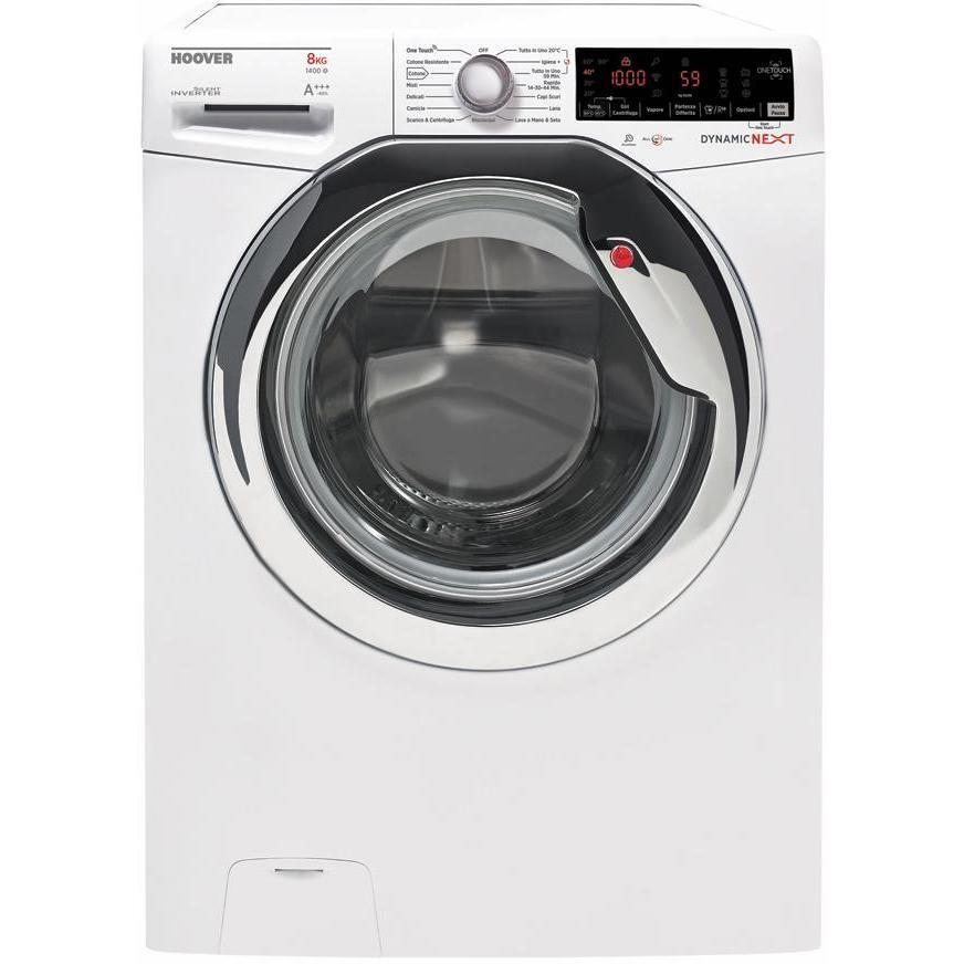 Hoover DWOA 437AHC6/2-01 lavatrice 40 cm carica frontale 7 Kg 1300 giri classe A+++ colore bianco