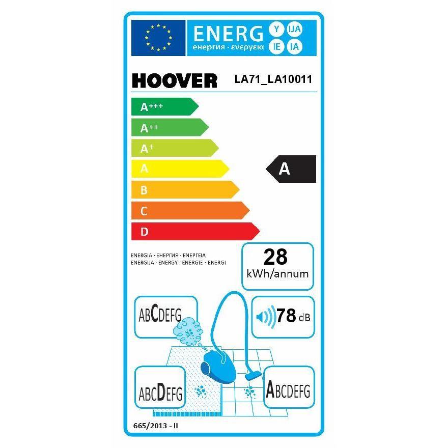Hoover LA71_LA10011 aspirapolvere a cilindro senza sacchetto 700 Watt classe A