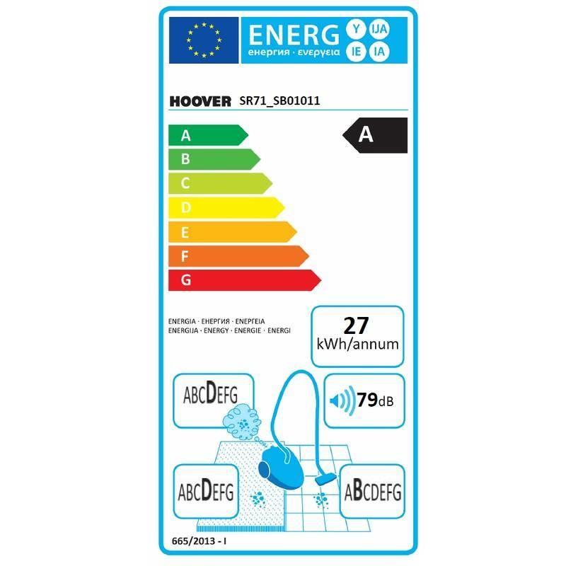 Hoover SR71_SB01011 Syrene scopa elettrica senza sacco 700 Watt classe A colore blu