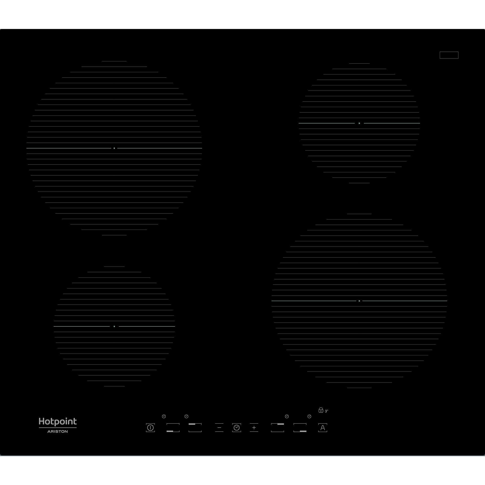 Hotpoint/Ariston IKIA 640 F piano cottura a induzione 60 cm 4 zone ...