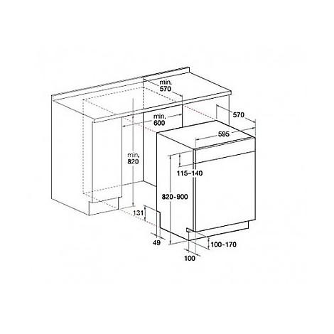 hotpoint-ariston lavastoviglie da incasso lsb-5b019 w eu ...