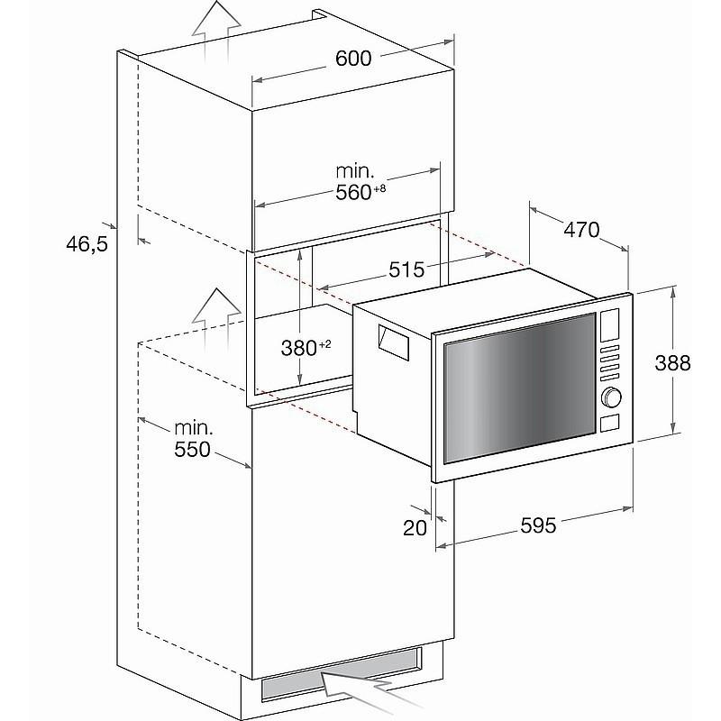 HOTPOINT ARISTON MWHA222.1X FORNO A MICROONDE DA INCASSO CON GRILL 25 LT