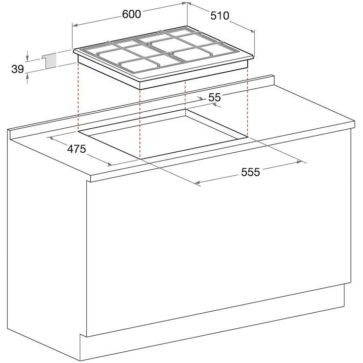 Hotpoint/Ariston PCN 642 T/IX/HAR piano cottura a gas 60 cm 4 fuochi colore inox