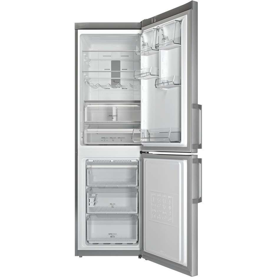 Hotpoint/Ariston XH8 T2O XZH frigorifero combinato 338 litri classe A++ Total No Frost colore inox