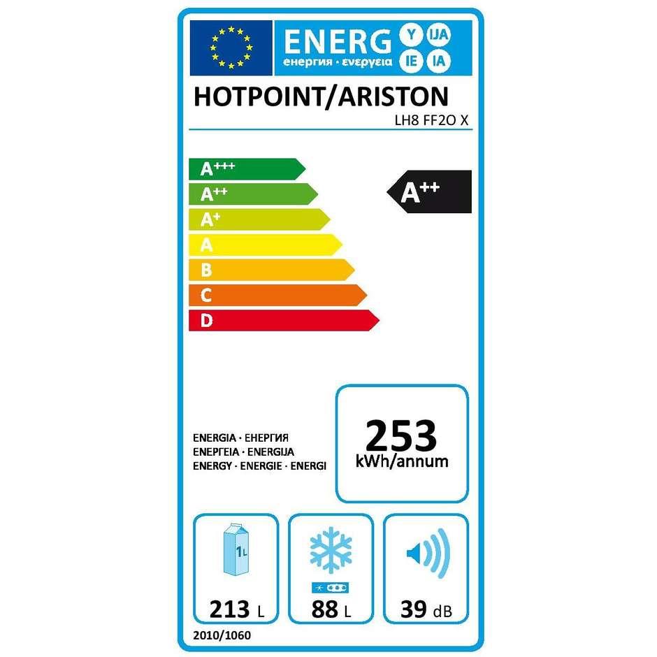 Hotpoint LH8 FF2O X frigorifero combinato 301 litri classe A++ Ventilato/No Frost colore inox