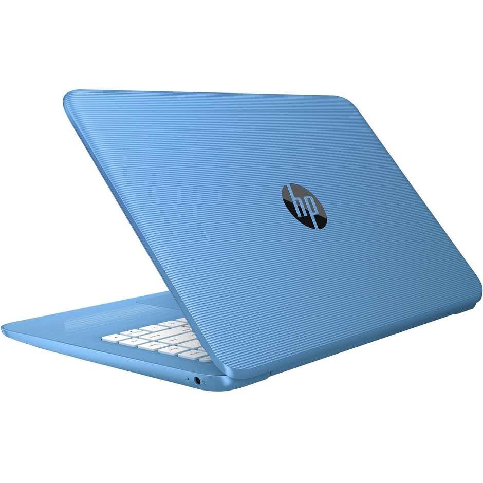"HP 14-AX004NL Notebook 14"" Intel Celeron N3060 Ram 4 GB Hard Disk 32 GB  Windows 10 Home colore Azzurro"