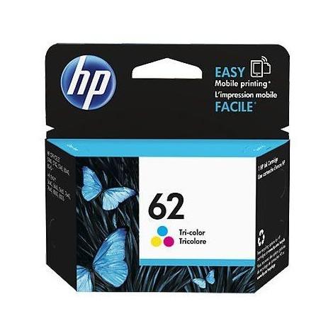 Hp C2P06AEBL 62 cartuccia per stampanti ink-jet colore ciano, magente e giallo