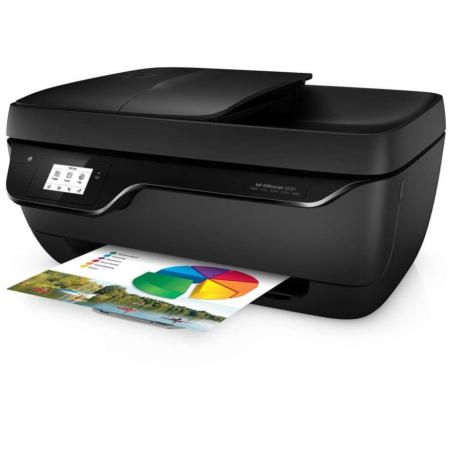 HP OfficeJet 3835 Stampante InkJet multifunzione All-in-One USB Wifi colore nero