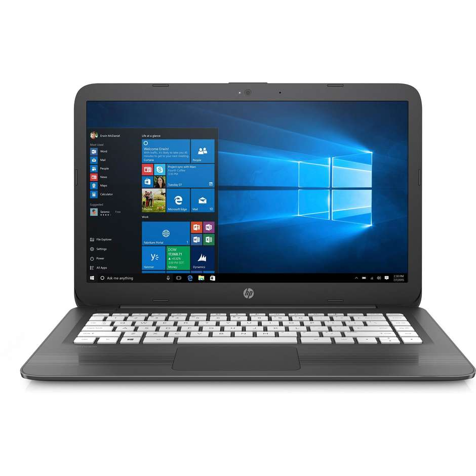"HP Stream 14-cb025nl Notebook 14"" Intel Celeron N3060 Ram 4 GB memoria 64 GB Windows 10 Home"