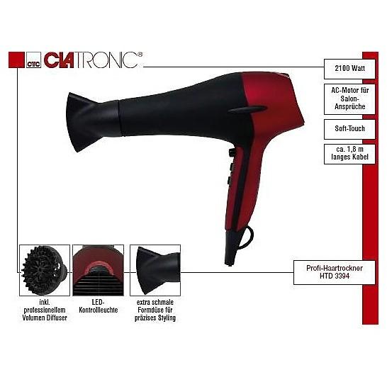 htd 3394 asciugacapelli 2100 watt clatronic Cura Capelli