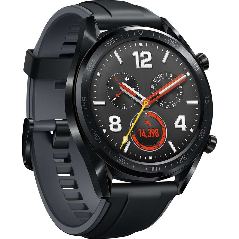 "Huawei Watch GT Smartwatch Display AMOLED 1,39"" Bluetooth colore Acciaio inossidabile nero"