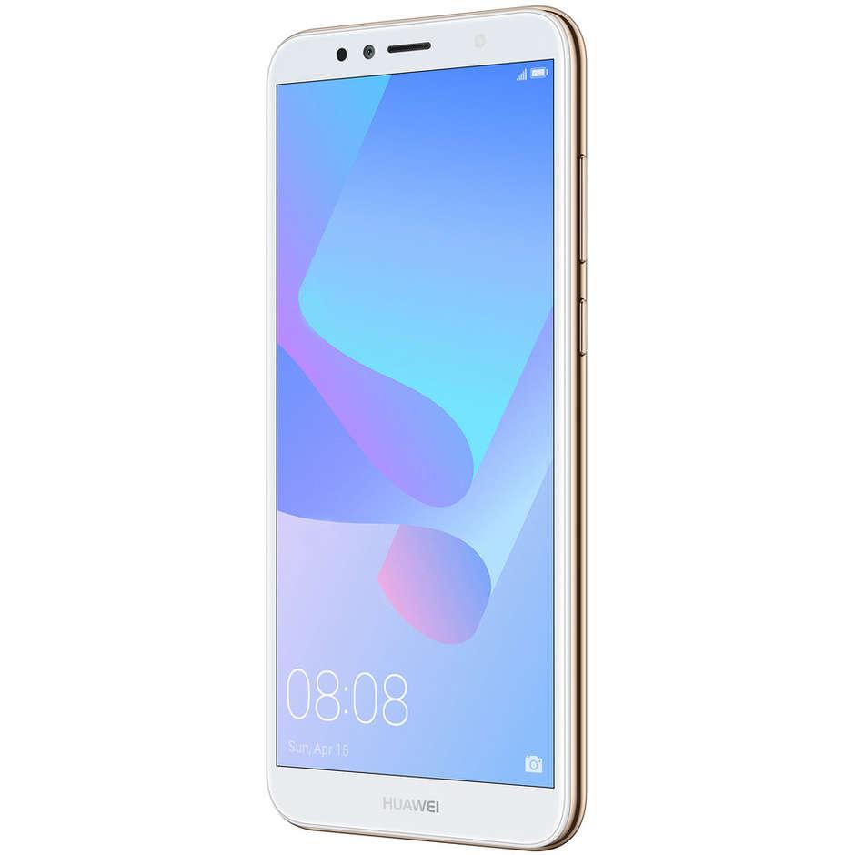 "Huawei Y6 2018 TIM Smartphone 5,7"" HD+ memoria 16 GB Fotocamera 13 MP Android 8.0 colore Oro 774798"