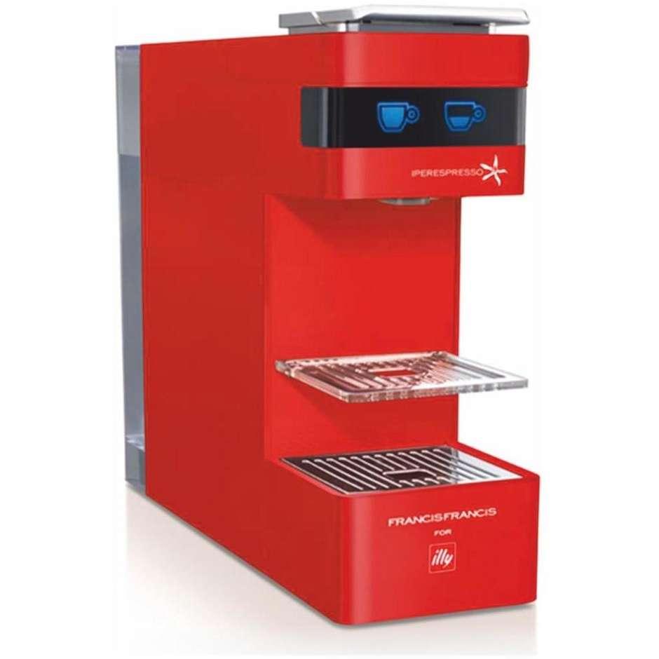 Illy Y3 Macchina del caffè con sistema capsule Capacità 0.75 L colore Rosso