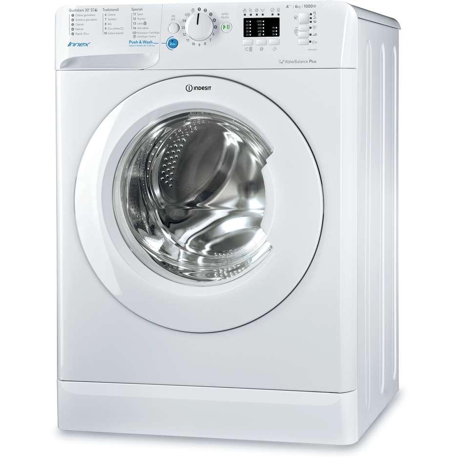 Indesit BWSA 61053 W IT lavatrice snella carica frontale 43 cm 6 Kg 1000 giri classe A+++ bianco