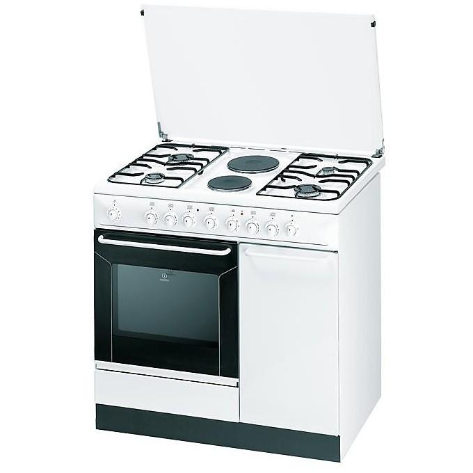 indesit cucina k9b11s(w)/i s 4 fuochi a gas 2 piastre elettriche ... - Cucine A Gas Indesit