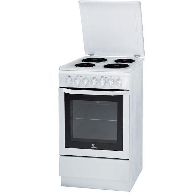 Indesit i5esh1e w i cucina 50x60 4 piastre elettriche - Cucine con piastre elettriche ...