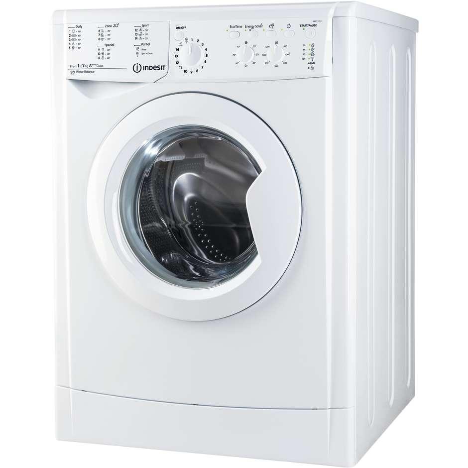 Indesit IWC 71253 ECO EU.M lavatrice carica frontale 7 Kg 1200 giri classe A+++ colore bianco