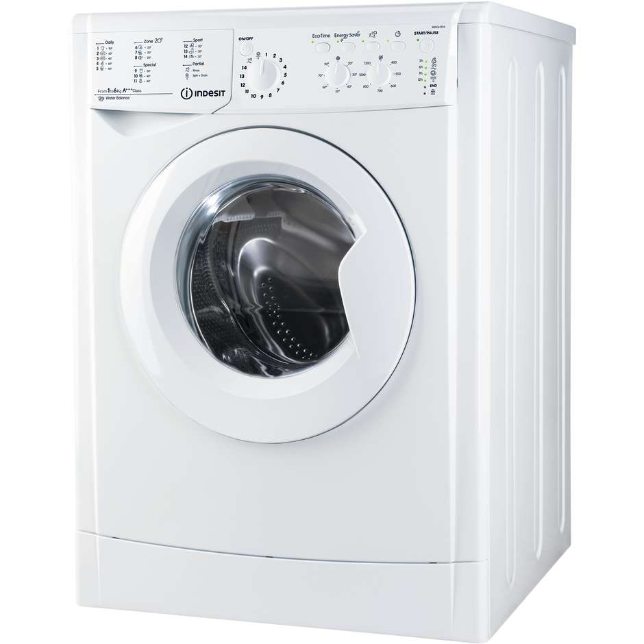 Indesit IWSC 61253 CECO EU.M lavatrice 42 cm carica frontale 6 Kg 1200 giri classe A+++ bianco