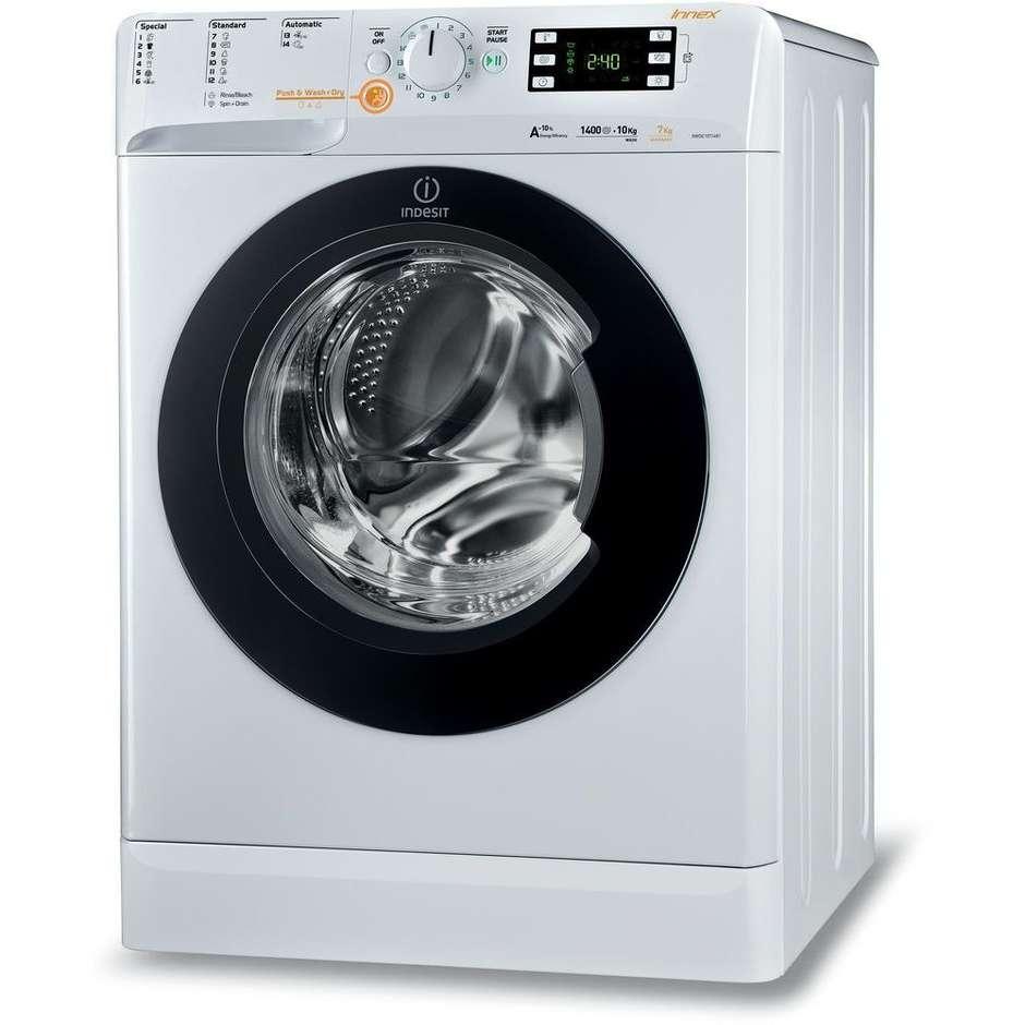 Indesit XWDE 1071481XWKKK EU lavasciuga carica frontale 10+7 Kg 1400 giri classe A colore bianco