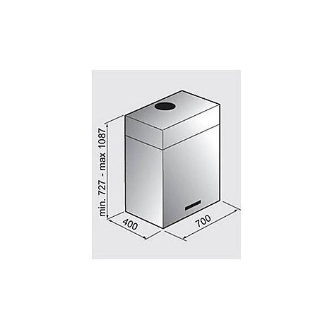 isola cubo 70 cm cappa tecnowind